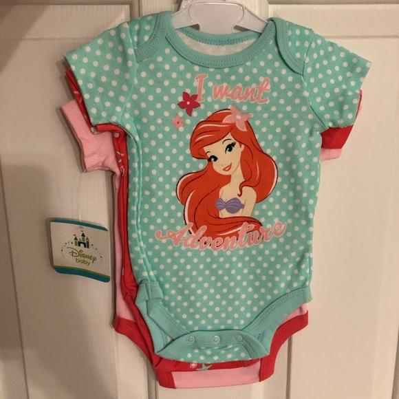 2b5b984da Disney One Pieces   Baby Ariel Onesie Set   Poshmark
